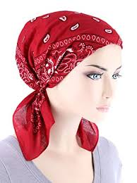 pre chemo paisley bandana scarf pre tied cotton chemo hat turban for cancer