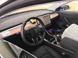 tesla model 3 week interior images apple car test drives