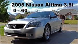 nissan altima 2005 mpg 2 5 2005 nissan altima 3 5 se 0 60 youtube