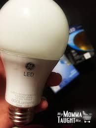 Ge Led Light Bulbs Ge Lighting Led Light Bulb Review My Momma Taught Me