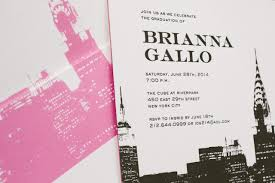 new york letterpress graduation invitations bella figura