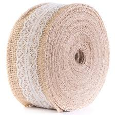 burlap and lace ribbon huji home products huji jute burlap with lace ribbon for