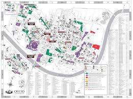 Ohio Time Zone Map by Ohio University U0027s Athens Campus Parking Map