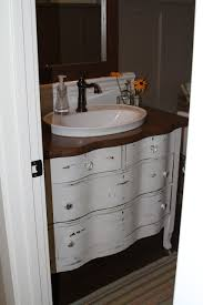 Used Double Vanity For Sale We Used An Old Oak Bureau We Got For 40 Painted It Modified The