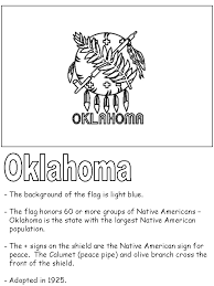 united states symbols coloring pages oklahoma state flag