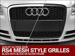 audi rs4 grill ecs audi b7 a4 ecs rs4 mesh style grilles
