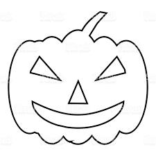 pumpkin on halloween icon outline style stock vector art 814636622