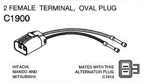 part c1900 hitachi mando and mitsubishi alternator repair plug