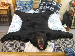airondack back bear rug bear skin rug 61 800 00 colorful