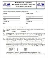 construction contract format construction contract template