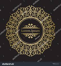 background gold ornament mandala based on stock vector 615943259