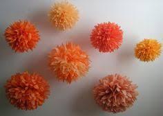 orange mix diy tissue paper pom pom garland nursery decoration