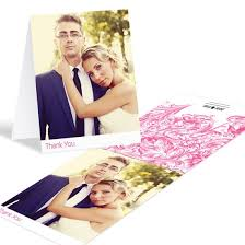 wedding thank you cards custom designs from pear tree