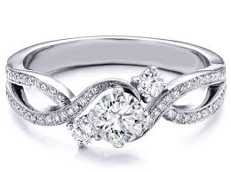 infinity engagement rings engagement ring three infinity diamond engagement ring 0 68