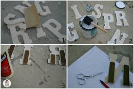 Decorative Letters For Walls Spring Craft Diy Home Decor Hoosier Homemade