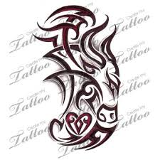 marketplace tattoo tribal taurus bull with heart 4475