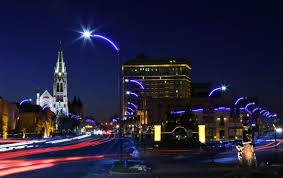 new lights promise colorful safer downtown st louis metro