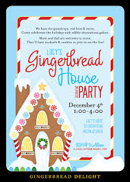 nealon design gingerbread house decorating party invitation