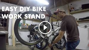 watch how to build your own bike work stand in just 30 minutes