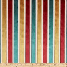 Upholstery Fabric Striped Robert Allen Velvet Neo Stripe Upholstery Poppy Discount