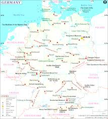 map of germany with cities and towns adorable map in germany