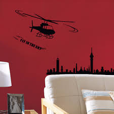 popular helicopter decor buy cheap helicopter decor lots from art adhesive wall poster home wall decoration wall sticker military helicopter living room background design wall