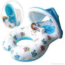bouée siège pour bébé keepwin piscine bouée siège de jeu gonflable avec cloches pour mère