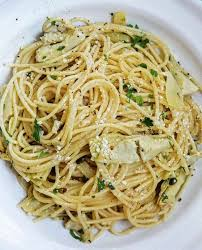 Cooking Italian Comfort Food Recipe Of The Week Spaghetti With Artichokes Lemon And Capers