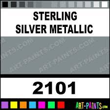 sterling silver metallic acrylic enamel paints 2101 sterling