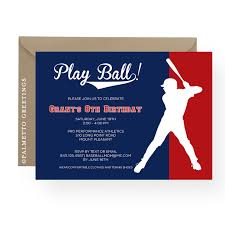 printable baseball birthday party invitation customize all