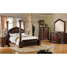 brown cherry poster queen bedroom set mandalay bellagio furniture