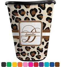 leopard print waste basket personalized potty training concepts