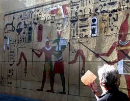from l a following the egyptian signs to the red sea az jewish ancient egyptian hieroglyphics painted on a hollywood theater wall inspire a new reading of the passover