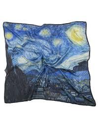 silk scarf van gogh starry night 90x90