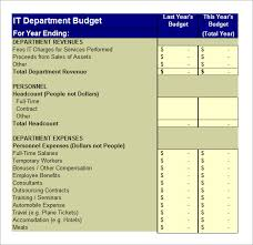 it budget template u2013 5 free samples examples format