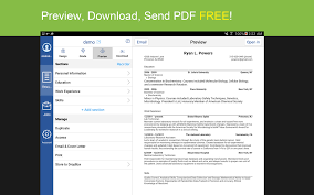 Best Resume Builder For Android by Resume Builder With Pdf Maker Android Apps On Google Play