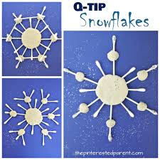 glittery q tip snowflakes u2013 the pinterested parent