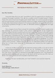 ideas collection sample business proposal letter for partnership