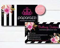 Vistaprint Business Cards Free Shipping Paparazzi Business Cards Etsy