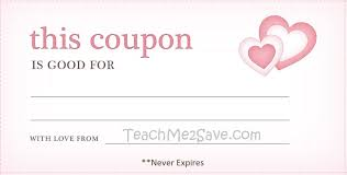 valentine day blank coupon template example v m d com