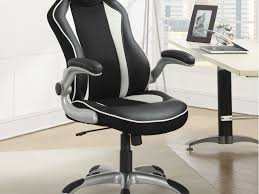 office chair glamorous black leather metal executive office
