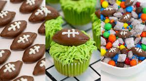 football cupcakes 3 bowl snack ideas football cupcakes puppy chow and