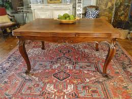 Draw Leaf Dining Table Antique Country Dining Table With Lovely Oak Parquet Top