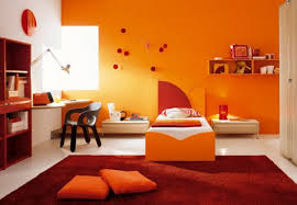 interior chaming orange interior paint color design in sweet