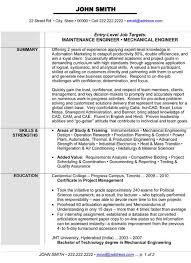 Best Technical Resume Examples by Mechanical Engineering Resume Templates Resume Example