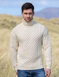 mens turtleneck sweater mens wool turtleneck sweater fisherman sweater cable knit