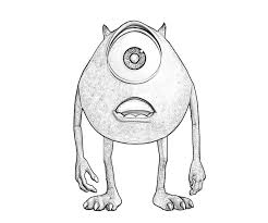 mike wazowski coloring pages kids coloring