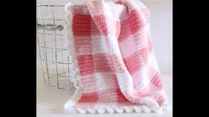 how to start and change colors in a gingham crocheted blanket