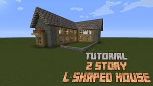 minecraft how to build a nice 2 story l shaped house tutorial