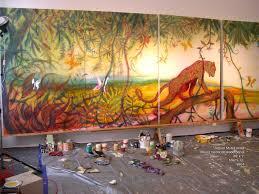 mural on wood jaguar mural miami studios dio